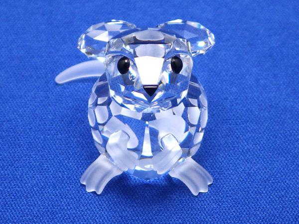 ★スワロフスキー 野ネズミ フィギュア 修理済 置物 のねずみ 森の動物 シルバークリスタルガラス製_画像2