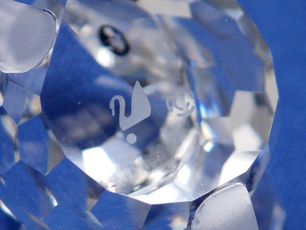 ★スワロフスキー 野ネズミ フィギュア 修理済 置物 のねずみ 森の動物 シルバークリスタルガラス製_画像3