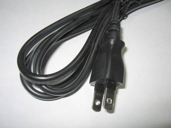 パソコン用 ACコード 3P-2P 2重絶縁タイプ(アース無)PC用電源コード 電源コード PC パソコン モニター  ネコポス送料込 新品