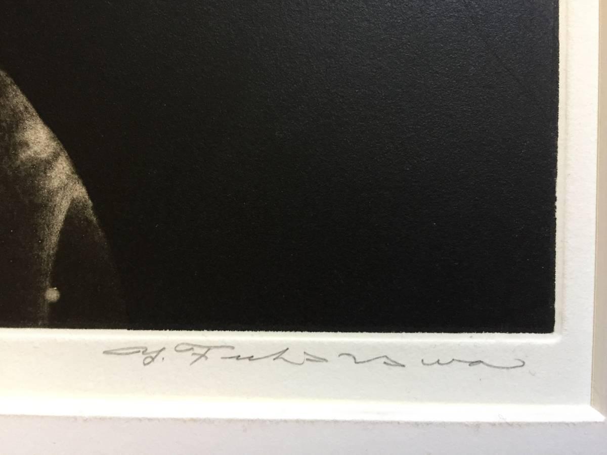 深沢幸雄(深澤幸雄) 『 ひたいの傷 』  銅版画 1979年 75部 額装  【真作保証】 _画像4