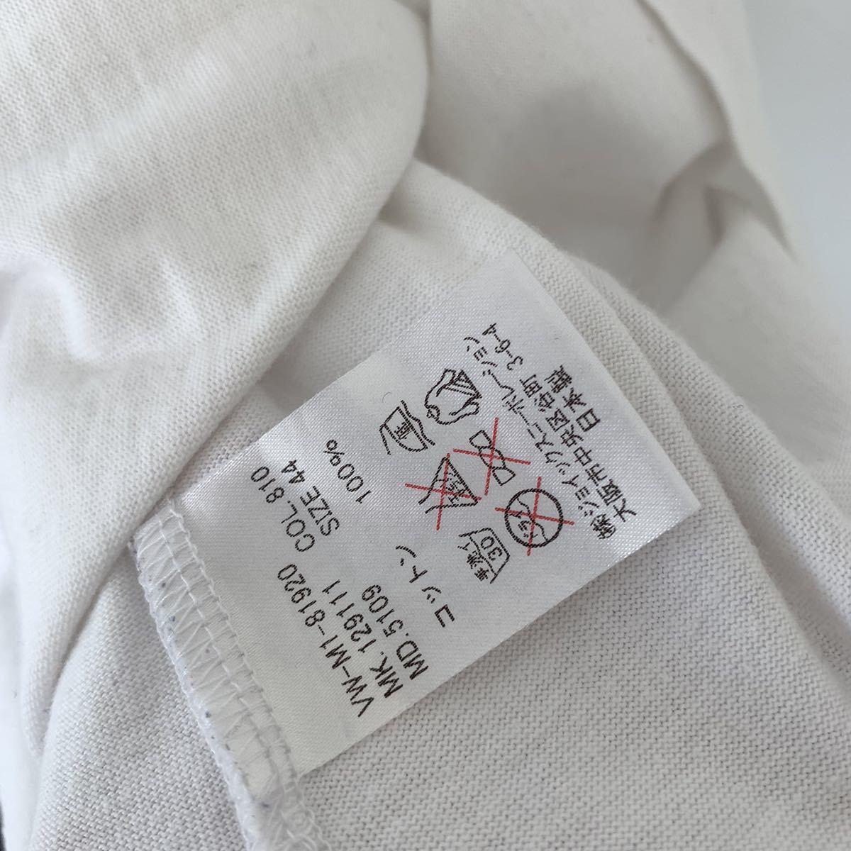 【送料込み】Vivienne Westwood ヴィヴィアンウエストウッド Tシャツ メンズ ホワイト S 44