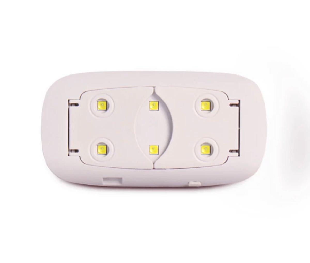 ジェルネイルライト 新品未使用 ピンク UVライト   LEDライト ネイル