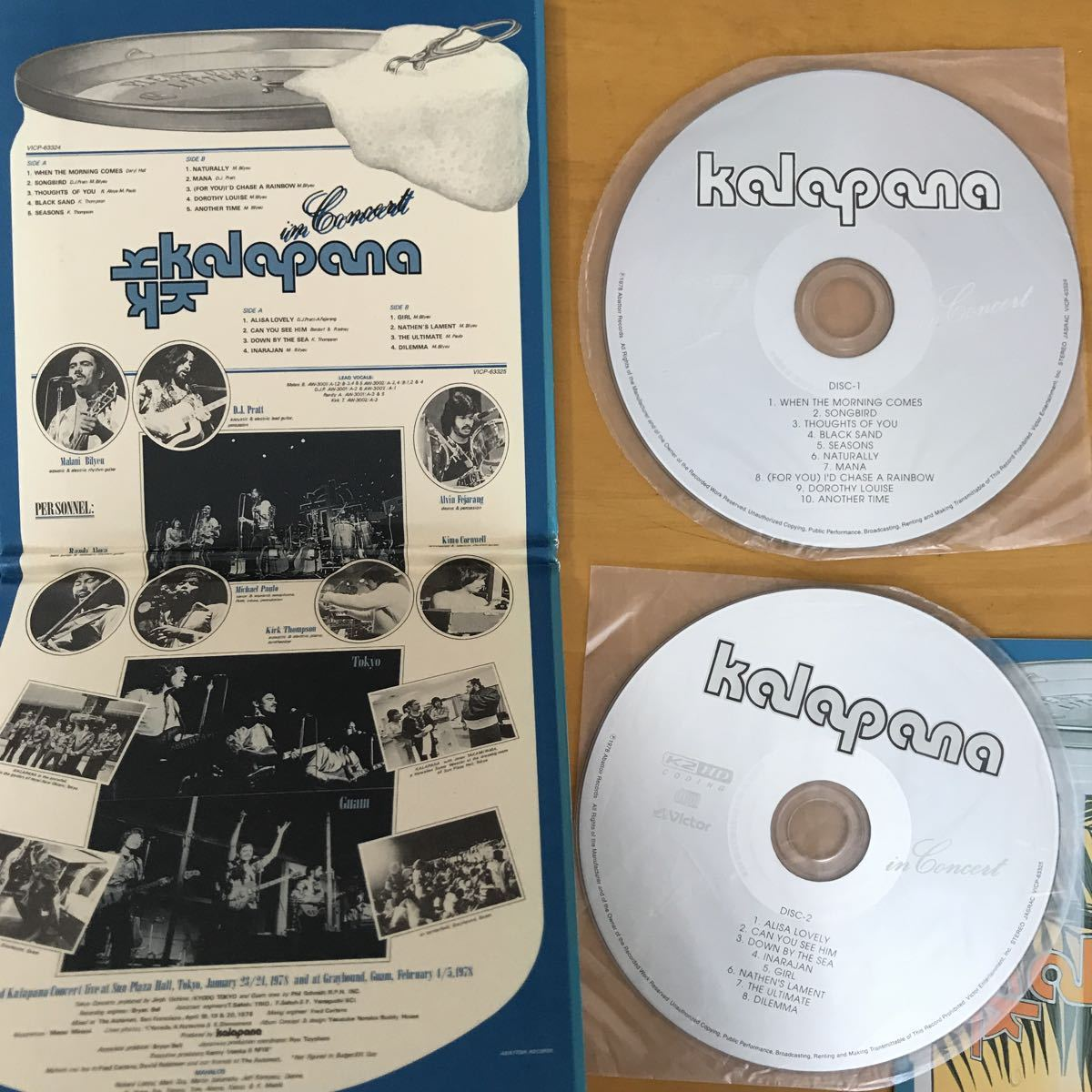 KALAPANA IN CONCERT カラパナ 国内盤CD 2枚組_画像2