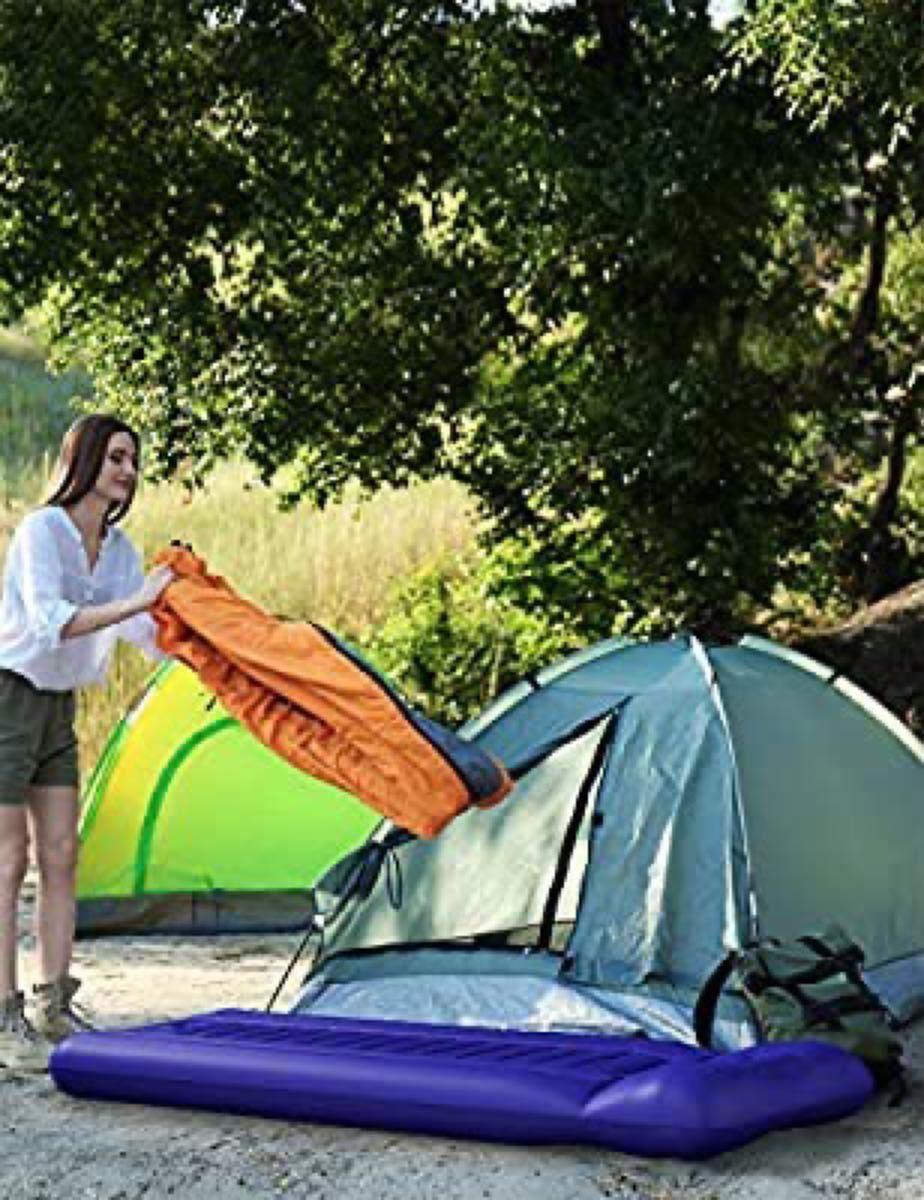 エアーマット キャンプマット ピロー一体式 14cm業界NO.1の厚さ