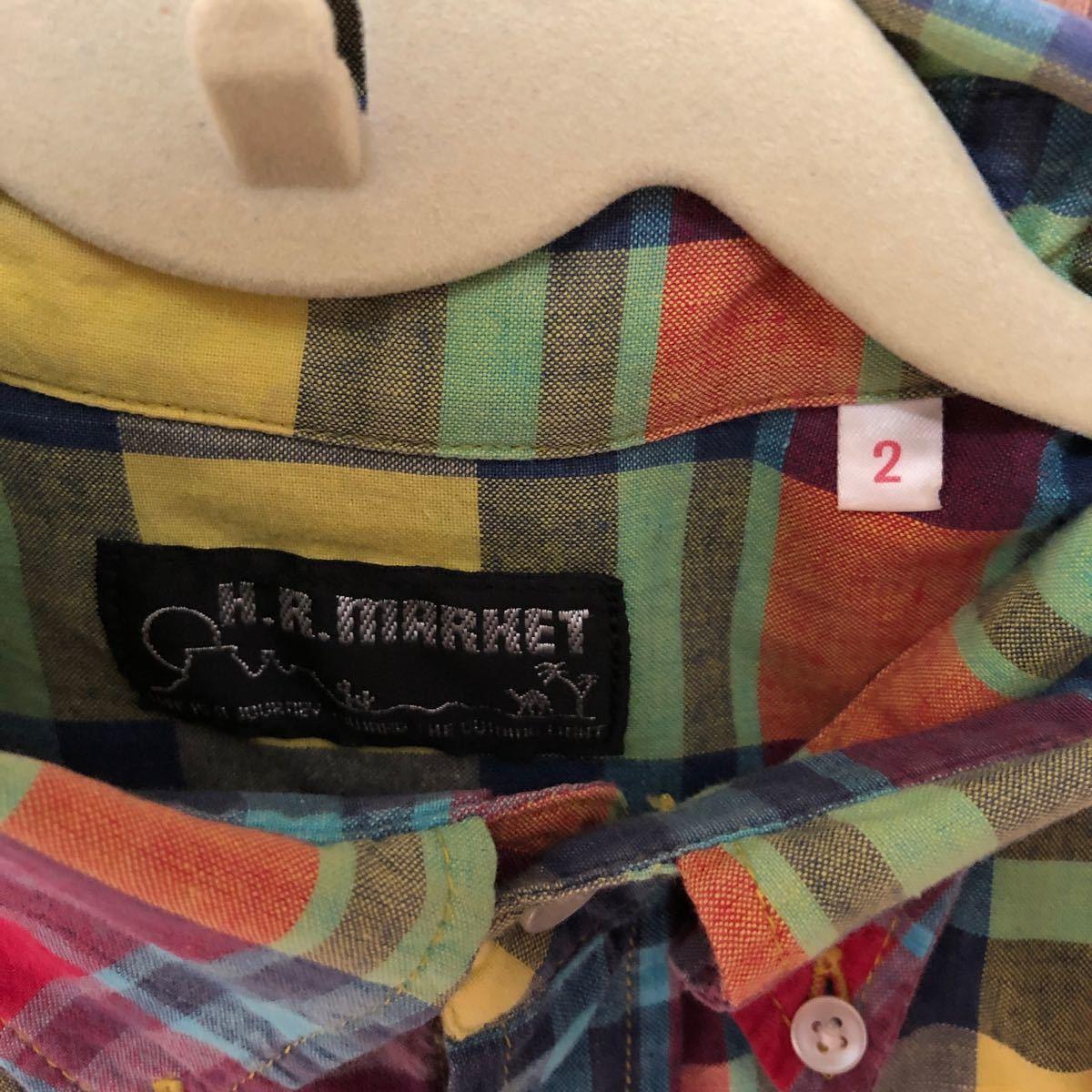 ハリウッドランチマーケット 長袖シャツ チェック柄 ネルシャツ