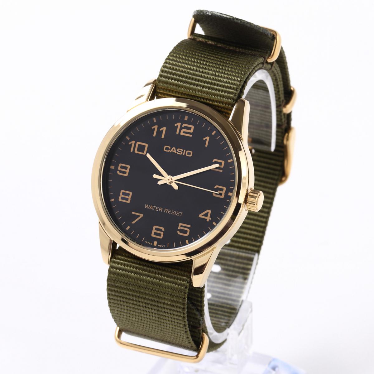 時計ベルト カーキグリーン 20mm NATO ゴールドバックル 全長255mm ショートサイズ ナイロンストラップ取付けマニュアル_画像2