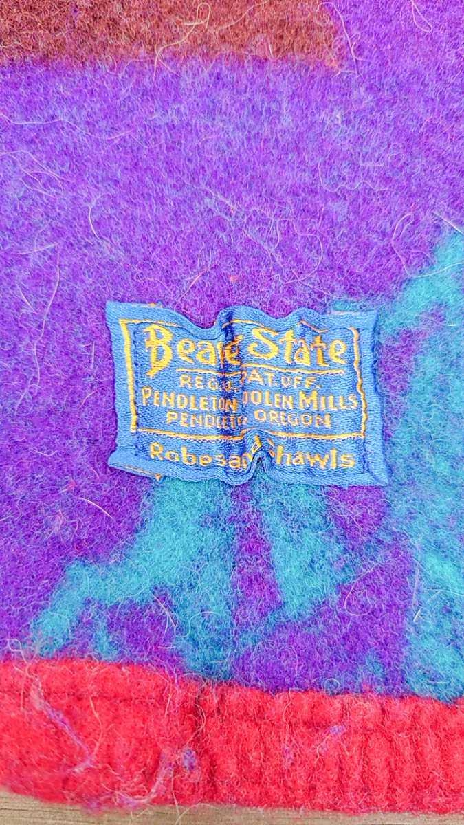 PENDLETON BEAVER STATE ペンドルトン ビーバーステート マルチカラー ウール ブランケット ヴィンテージ ビンテージ アウトドア キャンプ