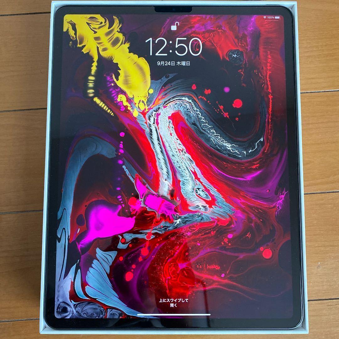 APPLE iPad Pro 12.9 WI-FI 256G ほぼ新品!2018年モデル スペースグレイ ケース付 ガラスフィルム貼済!
