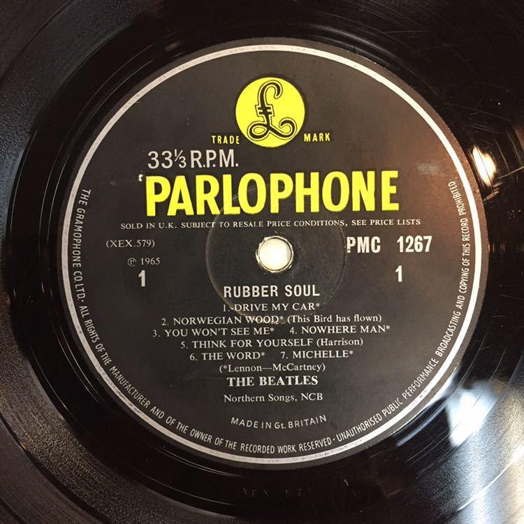 Beatles RUBBER SOUL ラウドカット オリジナルモノラル盤 UK盤 UKオリジナル盤 Loudcut 1st Press ビートルズ