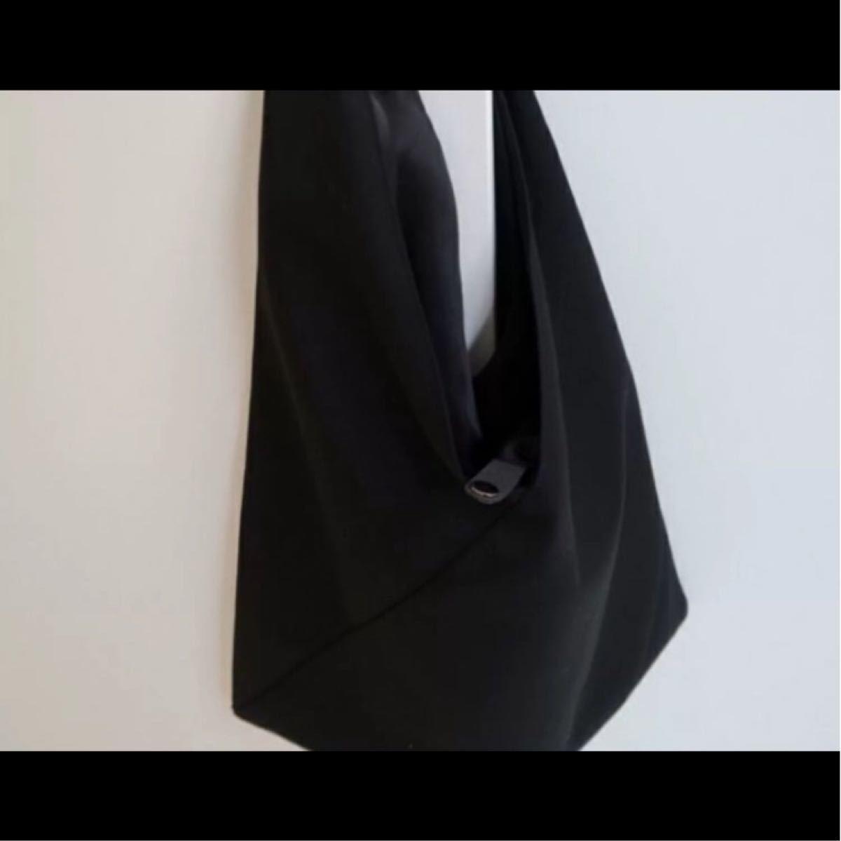 トートバッグ ショルダーバッグ シンプル 大容量 エコバッグ 黒 マザーズバック