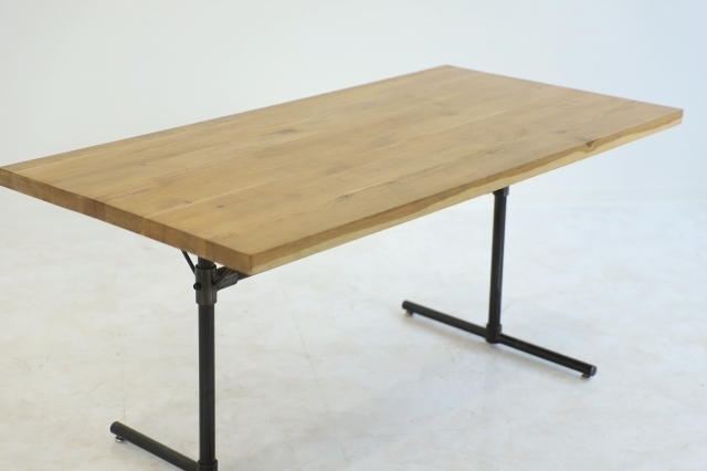 クラッシュゲート 「GRIT Ⅱ」関家具 オーク無垢材 ダイニングテーブル 作業台 デスク 机 インダストリアル 工業系 ノットアンティークス_画像1