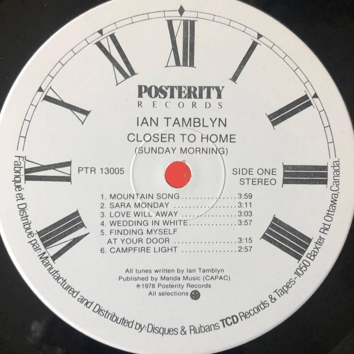 IAN TAMBLYN / CLOSER TO HOME カナダオリジナル SSW, FOLK_画像4
