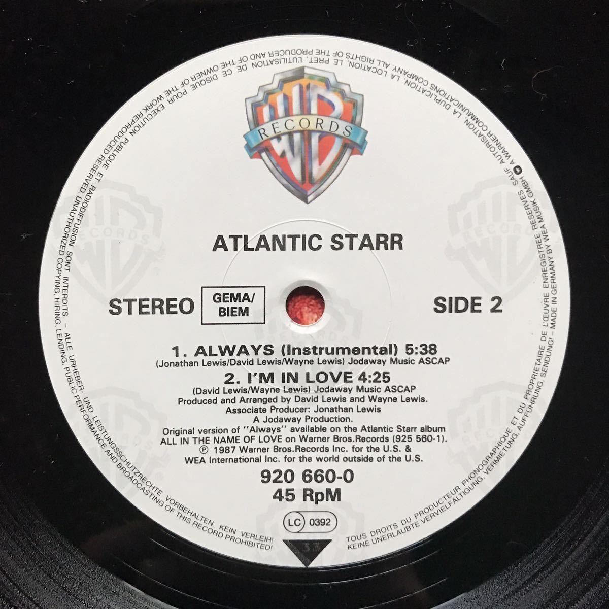 【r&b】Atlantic Starr / Always[12inch]オリジナル盤