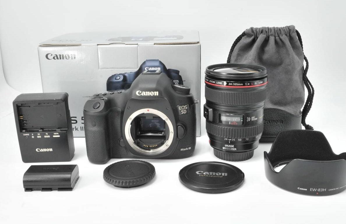 ★超美品!★ Canon キヤノン EOS 5D MarkⅢ レンズセット EF 24-105mm F4 L IS USM 一眼レフカメラ ●動作確認済の商品!★A-104_画像1