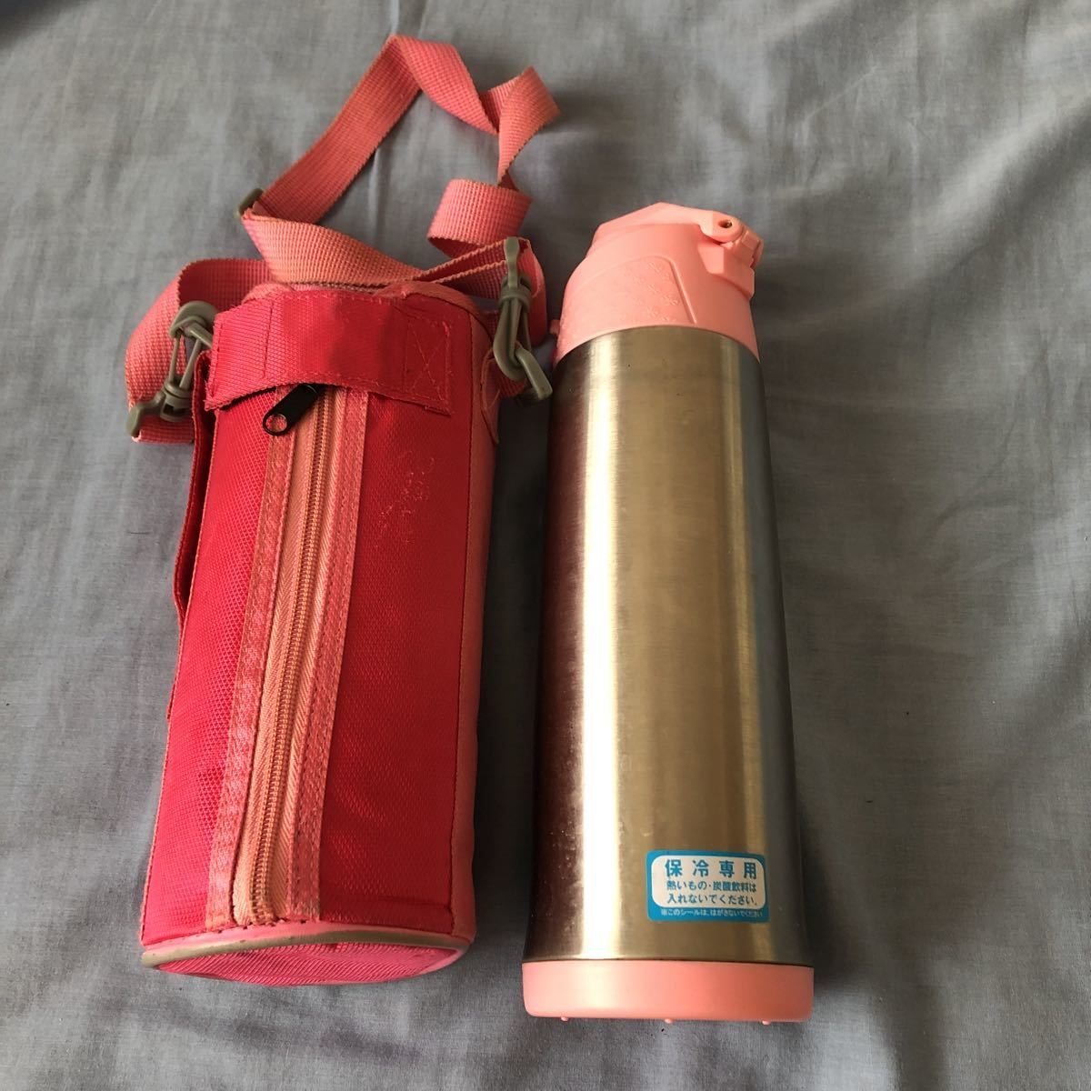 ステンレスボトル 1リットル 保冷専用 ピンク