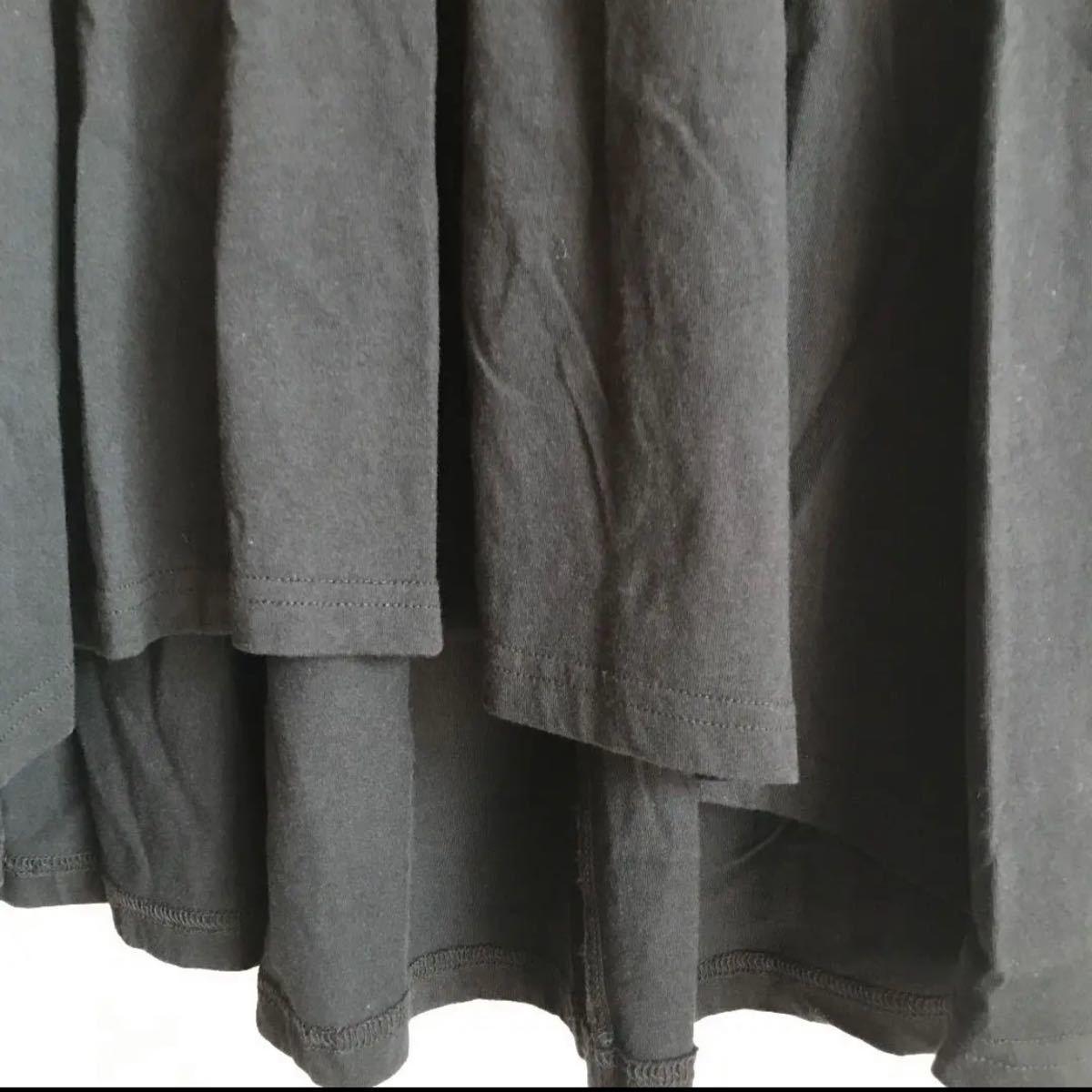 ワンピース H&M ノースリーブ ミニワンピース ブラック