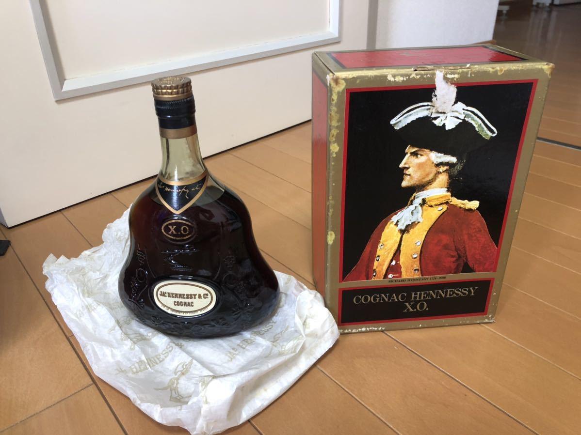 古酒 JAs Hennessy ジャズ ヘネシー XO グリーンボトル 700ml 箱付き 金 キャップ 9i