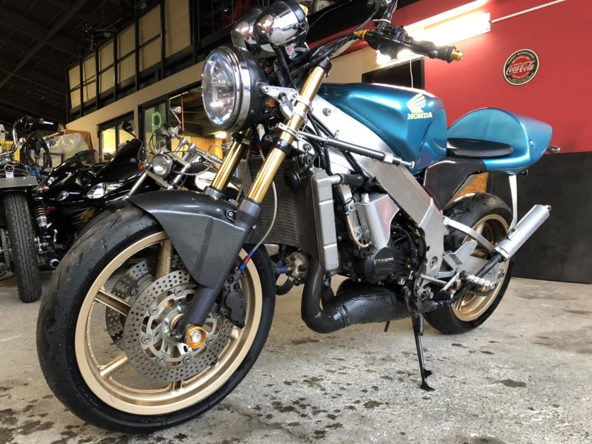 「希少 ホンダ NSR250 MC21 2スト ネイキッド フルカスタム バイク ツースト 書類あり 札幌発」の画像1