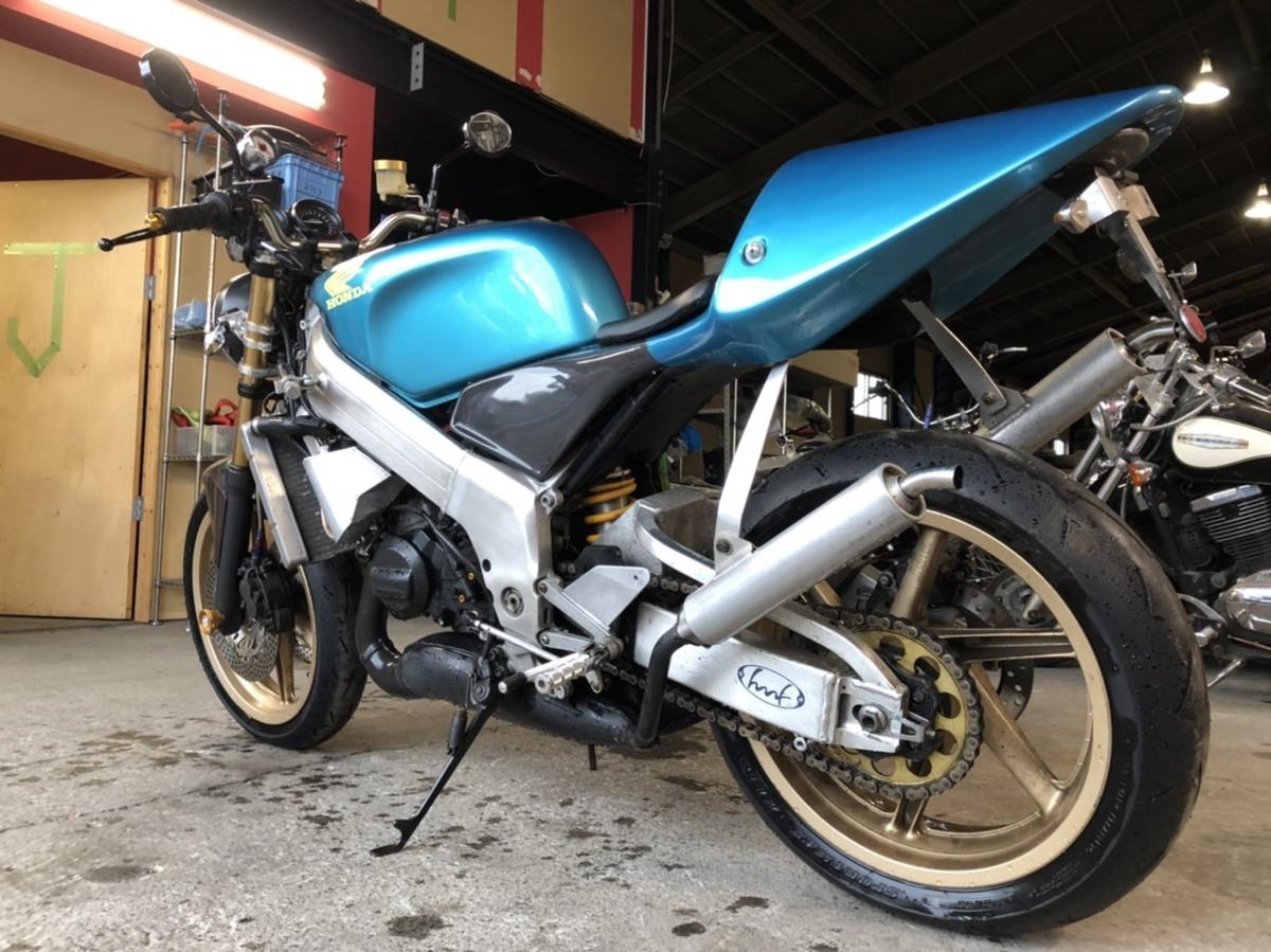 「希少 ホンダ NSR250 MC21 2スト ネイキッド フルカスタム バイク ツースト 書類あり 札幌発」の画像3