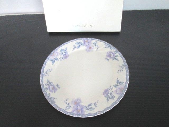 【未使用品】 ★ HOYA CHINA ★ New Ivory 大皿 1枚 花柄 (直径:26.5 cm) 日本製