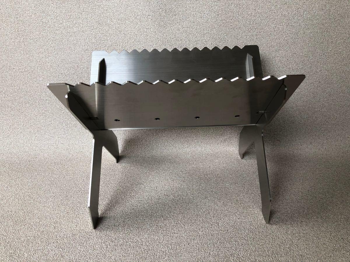 焚き火台 「PEKE×PON」 黒皮鉄板、ステンレススピットセット