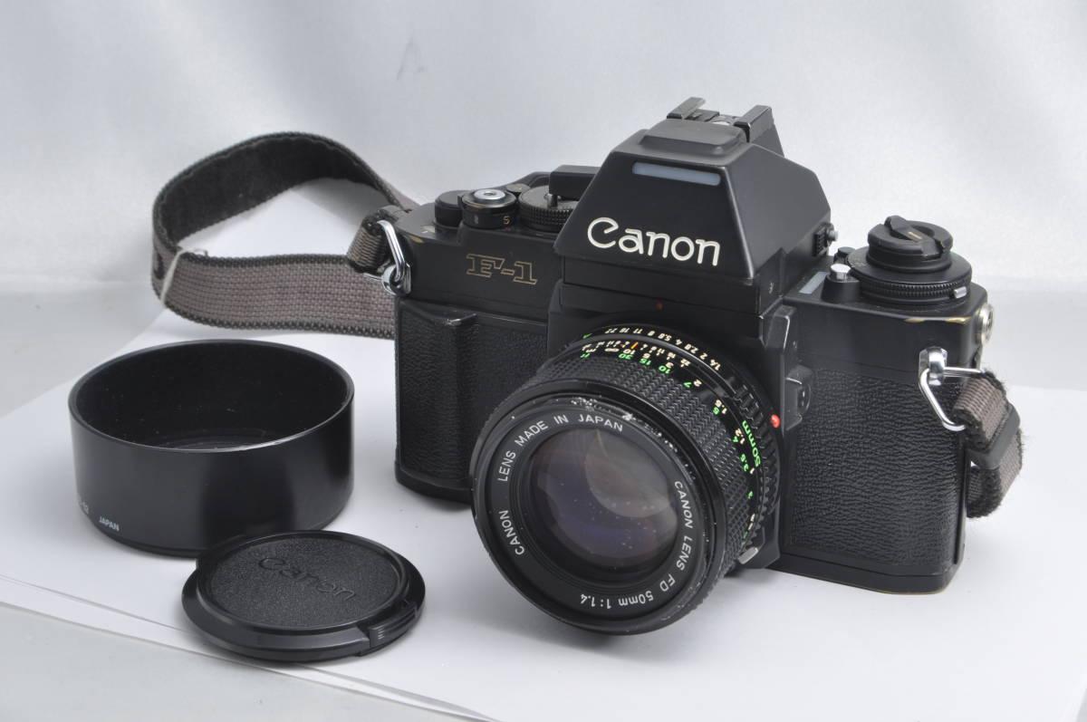 #5989 CANON F-1 New アイレベル FD 50mm F1.4 一眼レフフィルムカメラ レンズ付き キャノン