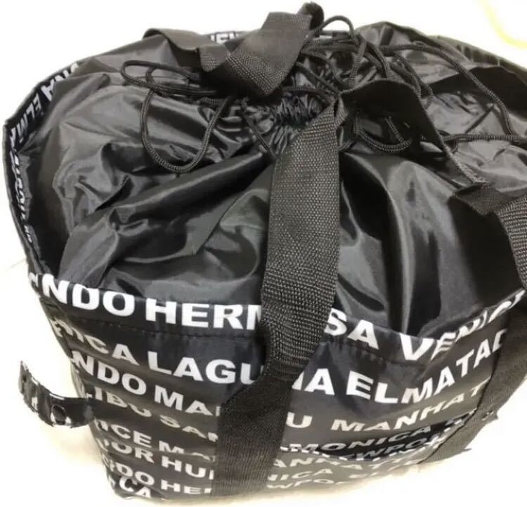 エコバッグ レジかご 折りたたみタイプ 保冷はっ水素材使用 L ビッグサイズ 黒 英語 アルファベット レジカゴバッグ