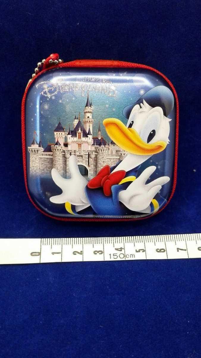 香港ディズニーランド ドナルド デイジー チャック ファスナー 小物入れ 約7cm ディズニー キーチェーン 空き缶_画像7