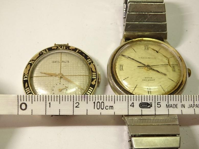 CARAVELLE BENRUS 手巻時計 レターパックプラス可 0903S29G_画像9