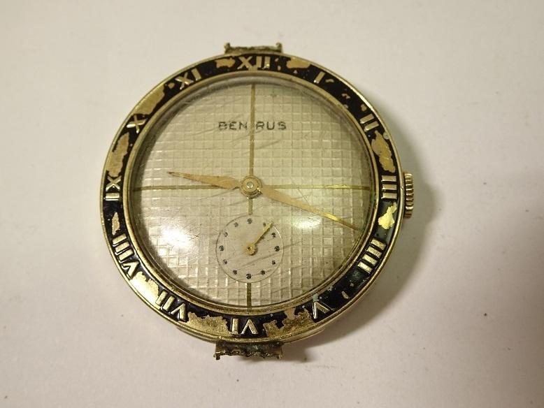 CARAVELLE BENRUS 手巻時計 レターパックプラス可 0903S29G_画像2