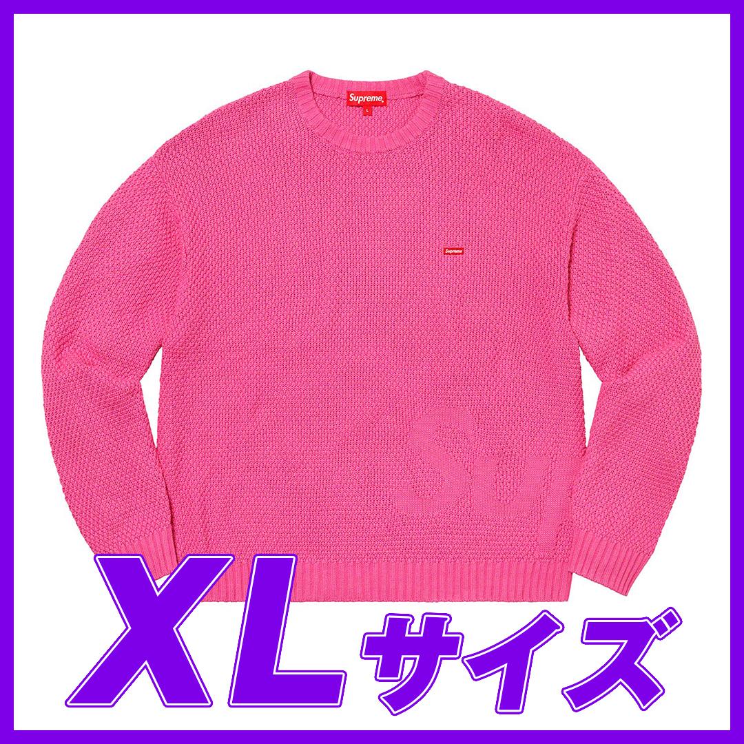1315 Supreme Textured Small Box Sweater Pink XL/シュプリーム テクスチャード スモール ボックス セーター ピンク XL 2020FW_画像1