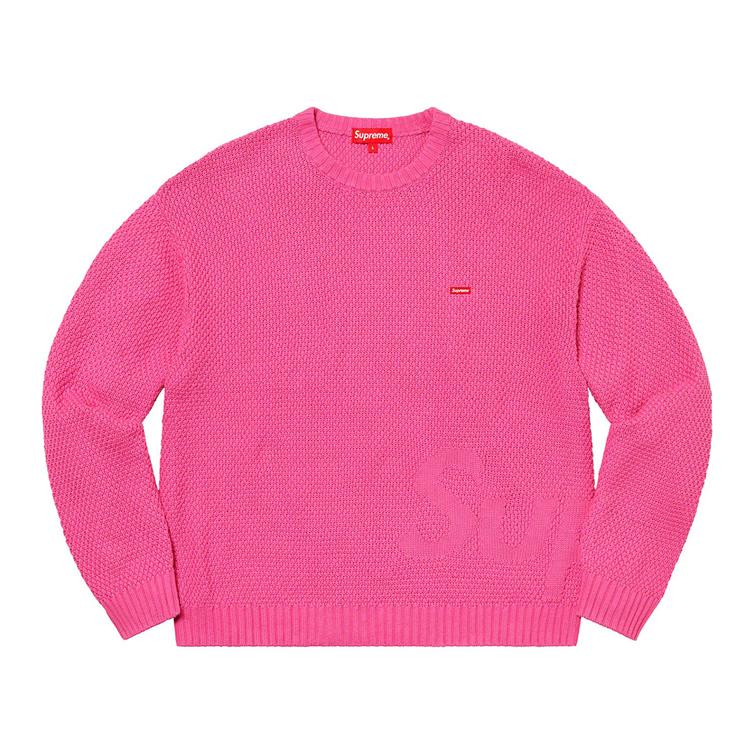 1315 Supreme Textured Small Box Sweater Pink XL/シュプリーム テクスチャード スモール ボックス セーター ピンク XL 2020FW_画像2