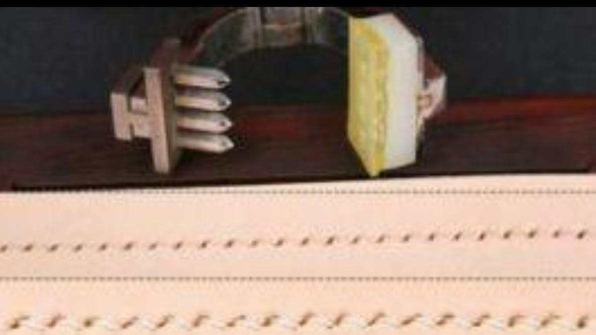菱目打ち 2本目 4本目 パンチ レザークラフト革 工具