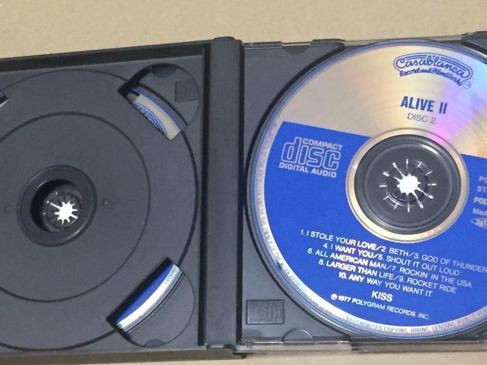 送料込 レア 旧規格 Kiss (キッス) - Alive II 国内盤CD / P58C-20018~19_画像3