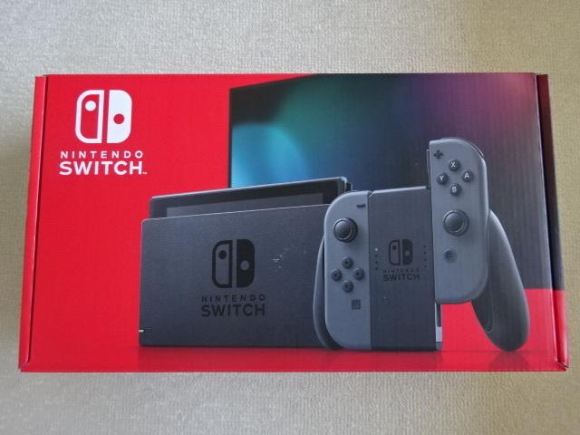 送料無料・新品未使用・任天堂スイッチ Nintendo Switch 本体 グレー[HAD-S-KAAAA]バッテリー持続時間が長い新モデル