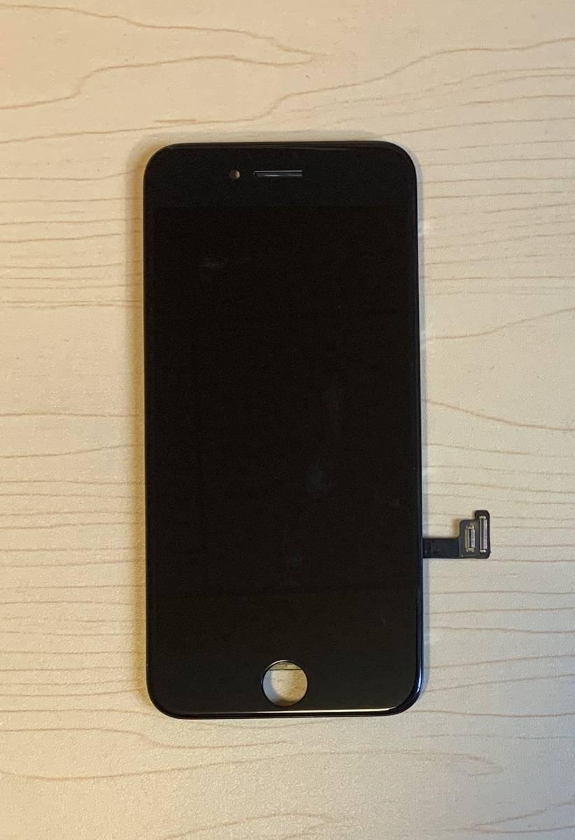iPhone8 黒 純正再生品 フロントパネル LCD 画面 液晶 修理 交換。64gb 、 256gb 、Au 、Softbank 、docomo、Sim フリー_画像3