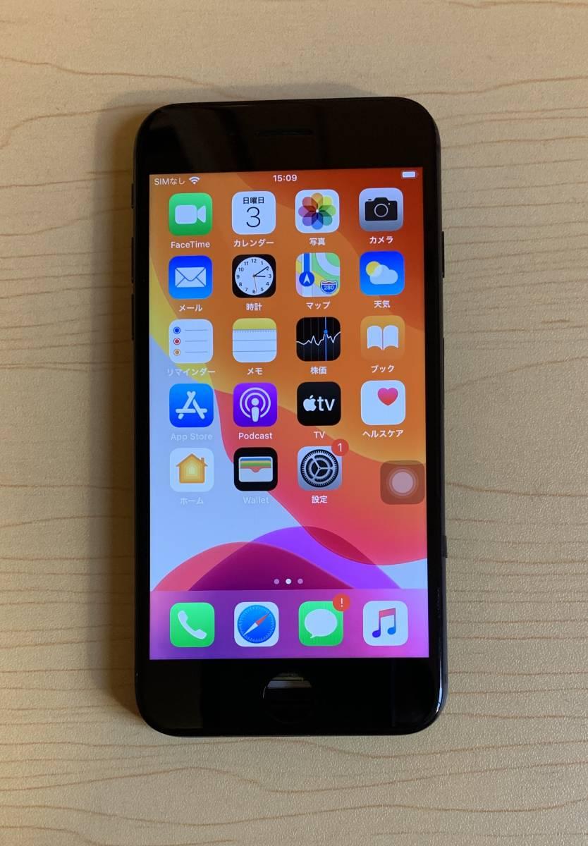 iPhone8 黒 純正再生品 フロントパネル LCD 画面 液晶 修理 交換。64gb 、 256gb 、Au 、Softbank 、docomo、Sim フリー_画像1