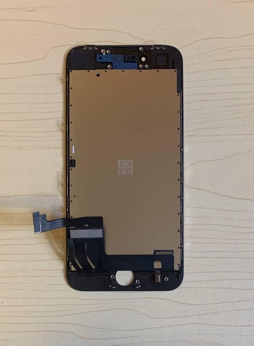 iPhone8 黒 純正再生品 フロントパネル LCD 画面 液晶 修理 交換。64gb 、 256gb 、Au 、Softbank 、docomo、Sim フリー_画像4