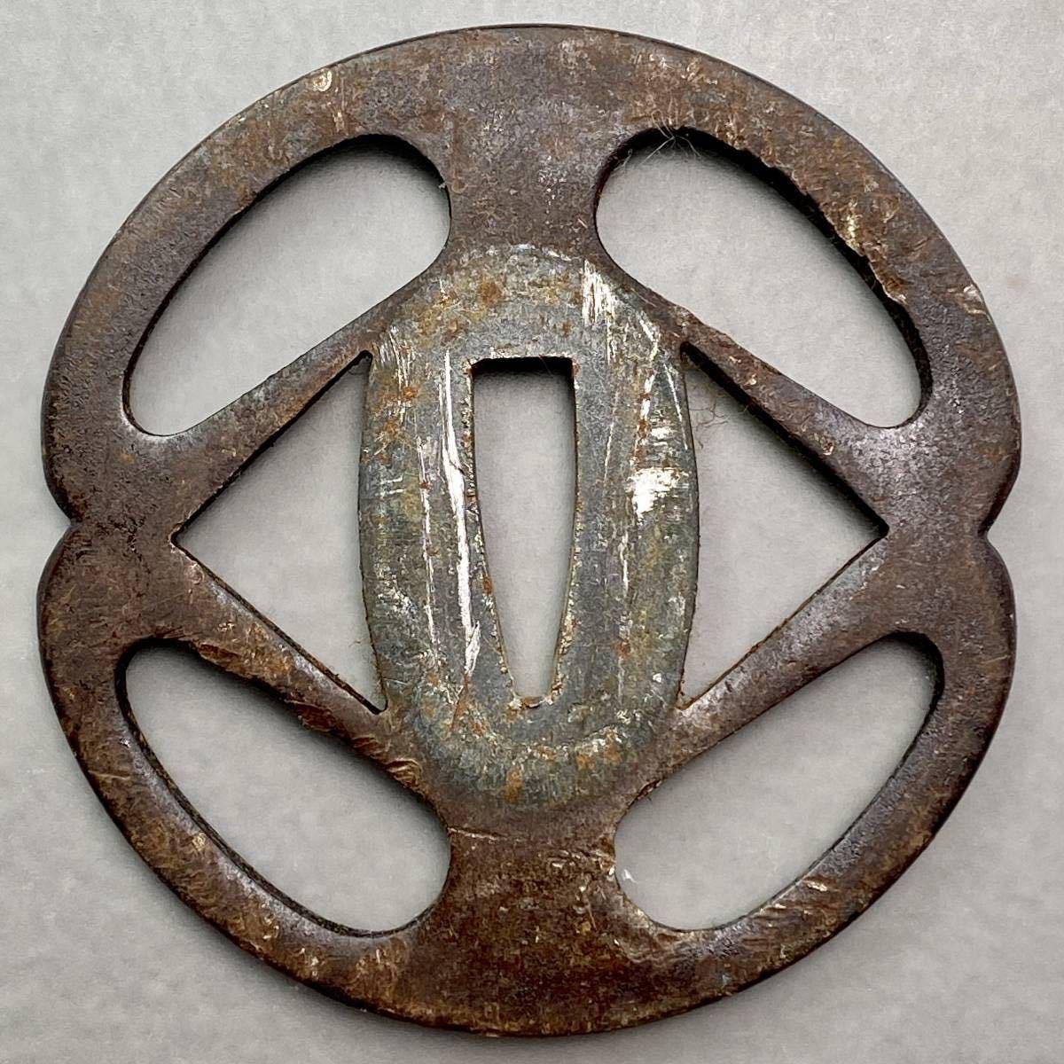 鐔 花輪の図鐔 刀装具 _画像3