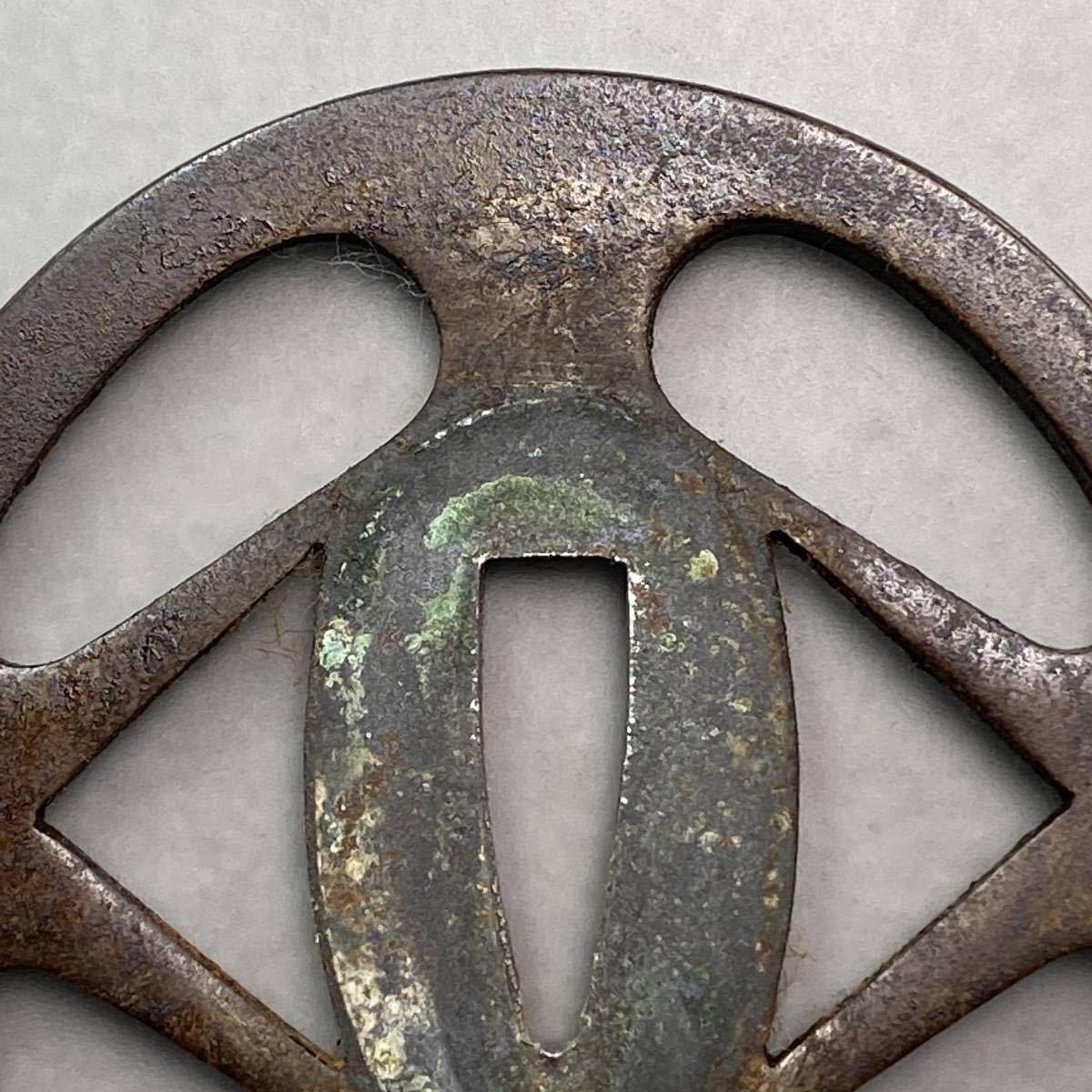 鐔 花輪の図鐔 刀装具 _画像5