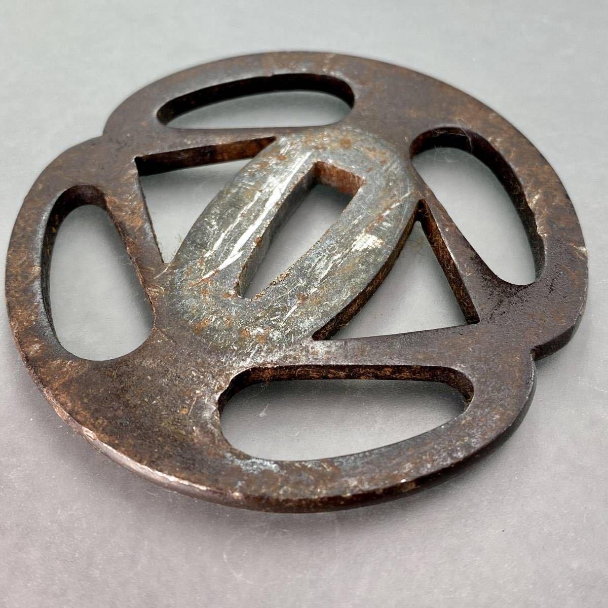 鐔 花輪の図鐔 刀装具 _画像8