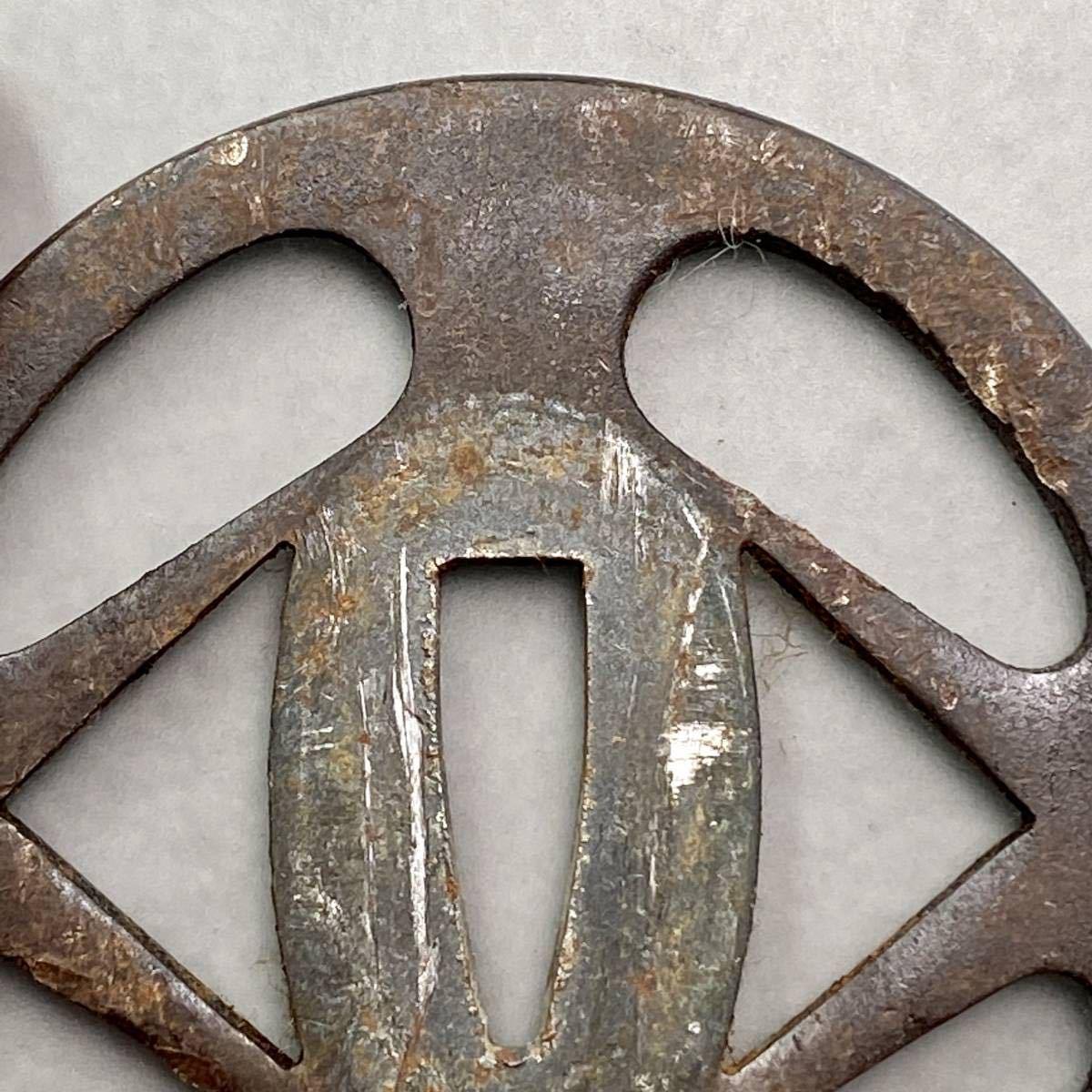 鐔 花輪の図鐔 刀装具 _画像6