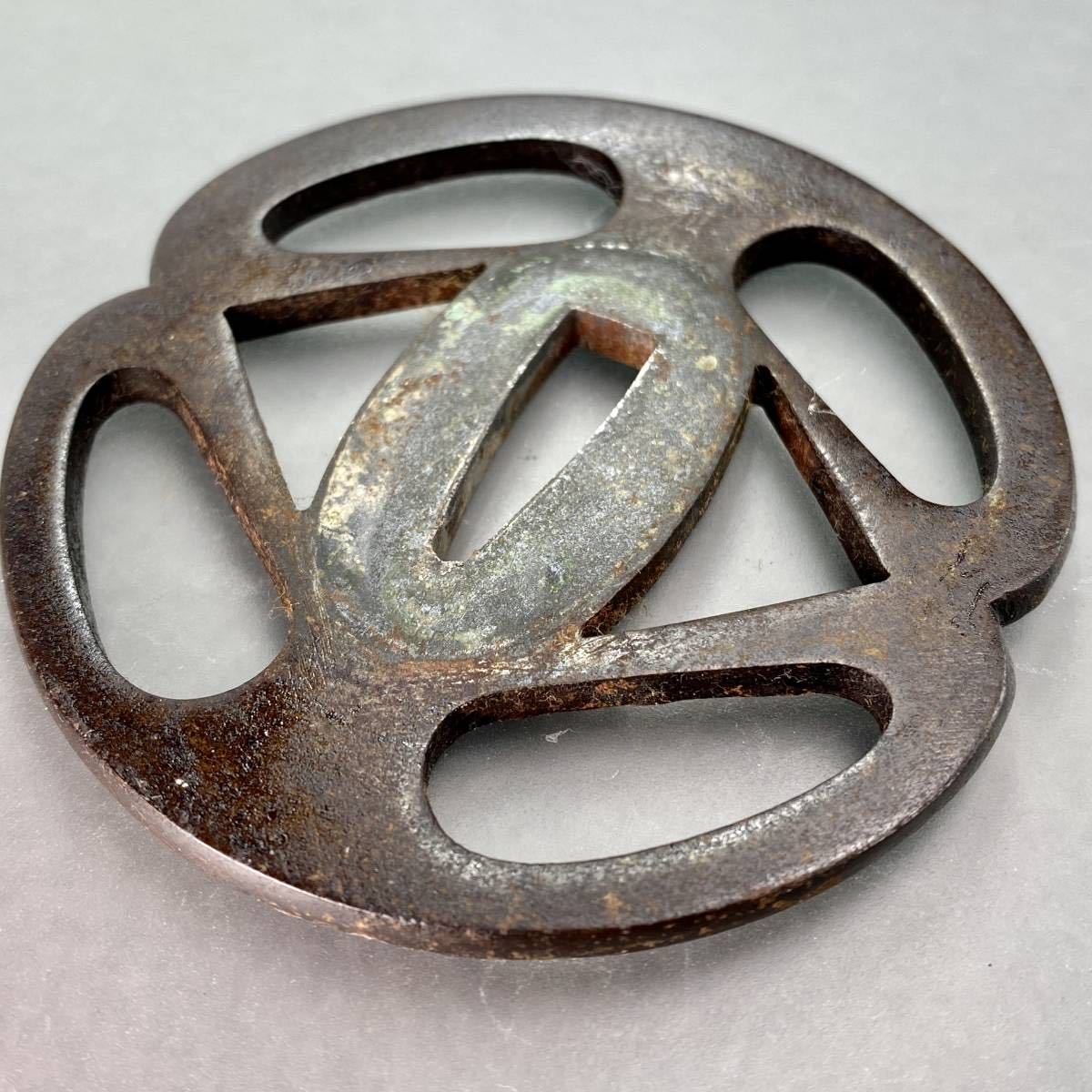 鐔 花輪の図鐔 刀装具 _画像7