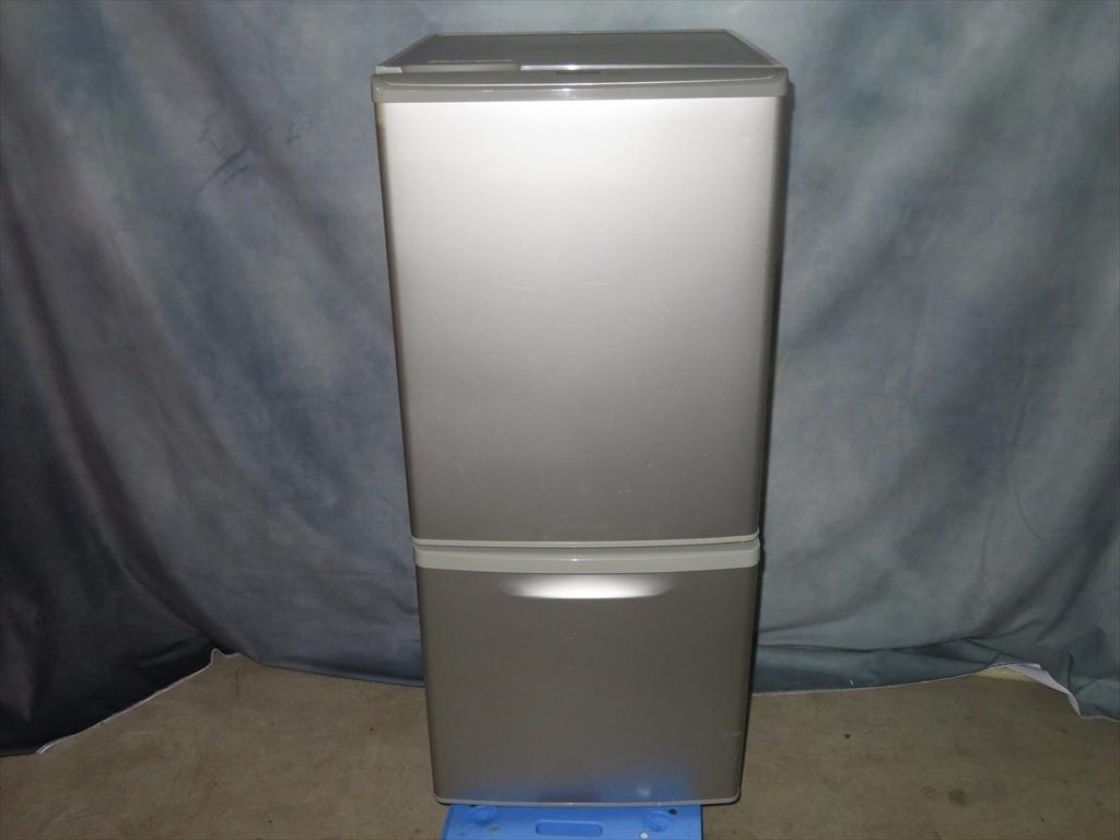 【本州地域→送料無料】Panasonic パナソニック ノンフロン冷凍冷蔵庫 NR-B143W-S 幅480×奥行584×高さ1119mm 138L 2011年製 管理NO.SK47_画像1