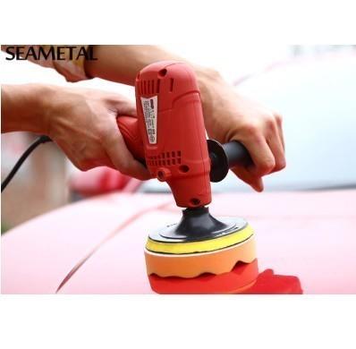 【強力洗車】 ポリッシャー スポンジ バフ 電動ドリル用 6点セット 車 研磨 洗浄 ブラシセット スポンジ ワックス 洗濯_画像5