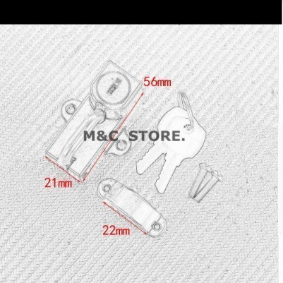 【メット盗難防止】汎用 バイク ヘルメット ロック 鍵 ホンダ CB1000R/CB1300SF/NC700XS/X/VFR800X/NC750SX/CBR400R 社外品_画像6