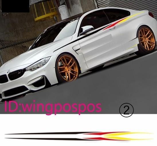 BMW Mパフォーマンス サイドスステッカー デカール E38 E39 E46 E60 E61 E64 E70 E71 E85 E87 E90 E83 F10 F20 F21 F30 F35_画像2