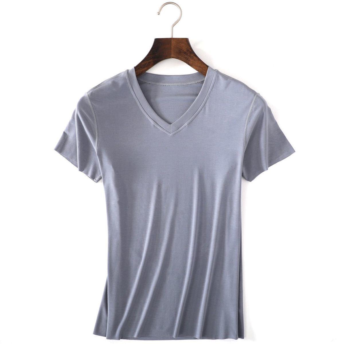 1-1トップス メンズ カットソー Tシャツ 半袖  シンプル 無地 コットン