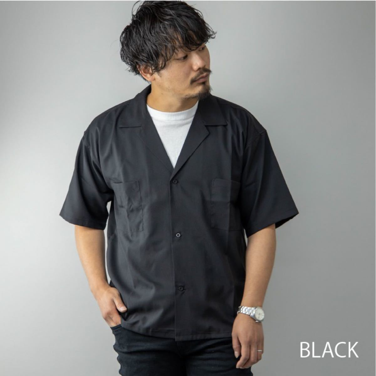 オープンカラーシャツ メンズ 半袖