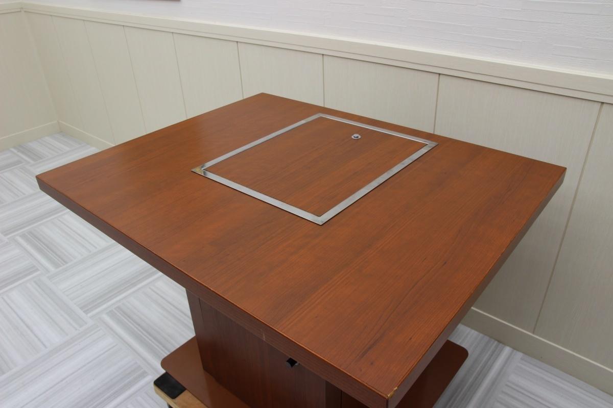 美品!店舗用 鉄板 カウンターテーブル お好み鉄板焼き焼肉焼きそばうどんもんじゃホルモン焼き 都市ガス 1000×800-2_画像5